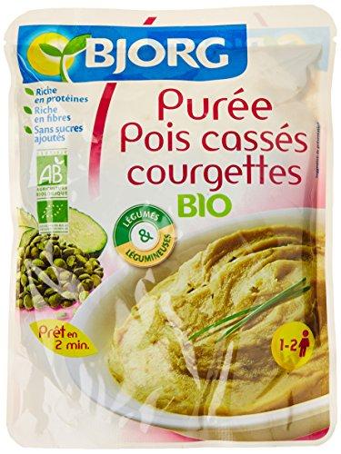 Bjorg Purée Pois Cassés Courgettes - Bio - sachet 1 à 2 personnes - 250 g
