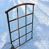 Antikas | Fenster für 12 Scheiben | Eisenfenster | Stallfenster | Spiegelfenster | Garagenfenster | Gusseisen Fenster | 94,5 cm x 66,5 cm
