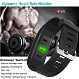 Fitness Tracker HR Willful Heart Rate Monitor Activity Tracker IP67 Waterproof Smart Bracelet Bluetooth Pedometer Watch With Cycling Mode Sleep Monitor Smartwatch Calorie Counter Call Message SMS Vibr
