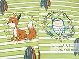 Mamasliebchen Jersey-Stoff Oskar & fiep #Forest (ca. 0,6m / 1Panel) Fuchs Eule Panel