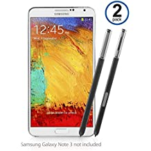 Galaxy Note 3lápiz capacitivo, BoxWave® [S Pen (2-Pack)] de silicona punta, precisa S Pen de repuesto para Samsung Galaxy Note 3–Jet Negro