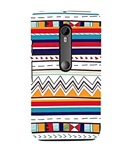 Fiobs Designer Back Case Cover for Motorola Moto G3 :: Motorola Moto G (3rd Gen) :: Motorola Moto G3 Dual SIM (Triangles Pyramid Colorful Patterns )