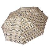 Regenschirm Taschenschirm Damen Herren Knirps Karo braun