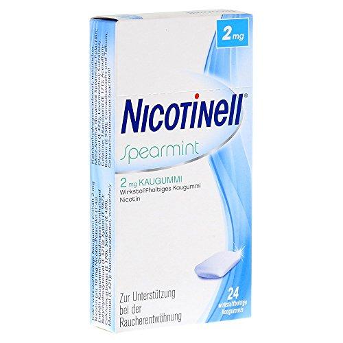 NICOTINELL Kaugummi Spearmint 2 mg 24 St Kaugummi