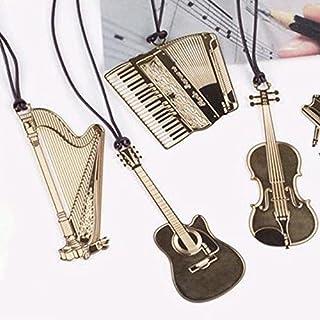 Kcopo Kcopo Lesezeichen Kreativ Gitarre Lesezeichen mit Lanyard Metall Buchzeichen Schönes Geschenk Für Musiker Bücherfreunde und Dekorations Experten