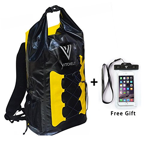 vitchelo-30l-dry-bag-waterproof-backpack-with-padded-shoulder-straps-adjustable-sling-suitable-for-b