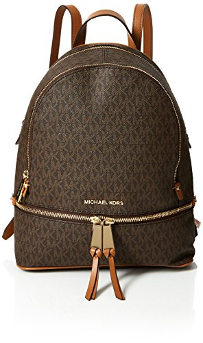 Michael Kors Damen Rhea Zip Rucksack, Braun (Brown), 12.7x31.8x24.1 centimeters