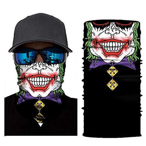 Colorful Multifunktionstuch aus Mikrofaser Schlauchtuch Sturmhaube Bandana Gesichtsmaske Halstuch Ski Motorrad Halloween Maske (D)