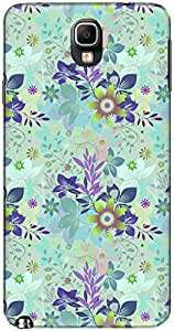 The Racoon Lean printed designer hard back mobile phone case cover for Samsung Galaxy Note 3 Neo. (Blue Flora)