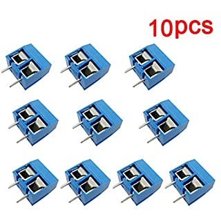 Aihasd 10PCS Screw Terminal Leiterplatten-Anschlussklemme Block 5.08mm 2 Pin Pitch Klemme Printklemme 300V 16A