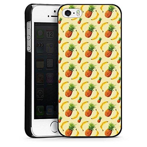 Apple iPhone 4 Housse Étui Silicone Coque Protection Ananas Banane Été CasDur noir
