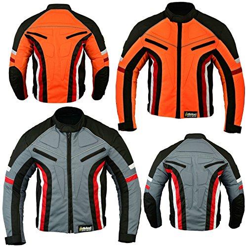 hilbro Herren Kurz Motorrad Motorrad Jacke Wind Wasserdicht und alle Größen/Wetter, Herren, grau, xl