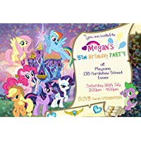 My Little Pony Scroll Party Invitations Envelopes Personalised Click Customize Now For Prices