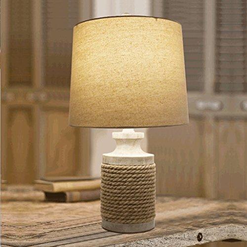 PIAOLING American-Stil Retro-Hanf Seil Tischlampe, europäischen Stil Kunst Dorf Bar Lampe -