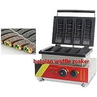 4pcs comercial belga máquina para hacer gofres Waffle máquina de hacer gofres Máquina de cono no
