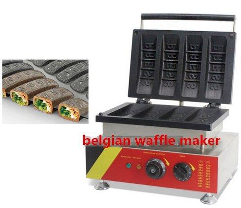 Preisvergleich Produktbild 4PCS kaufmännischer belgischen Waffeleisen/Waffelautomat Preis/Waffel Konus Maschine no-stick Waffelautomat CE Zertifizierung 220–240V