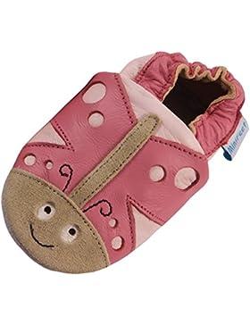 MiniFeet Weiche Leder Babyschuhe Krabbelschuhe - Baby Mädchen, Schmetterling