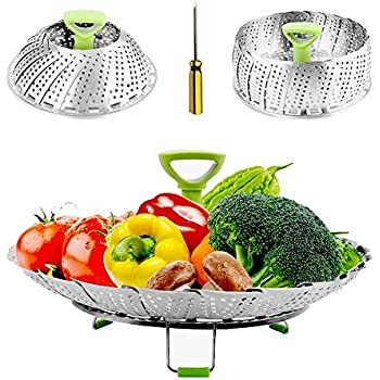9 23 cm KitchenCraft Stainless Steel Collapsible Saucepan Steamer Basket