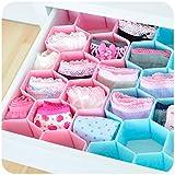 #8: Rian's Online™ 8-Piece Honeycomb Drawer Clapboard Closet Divider Cabinet Cellular Partitions Underwear Organizer Cosmetic Plastic Storage Box