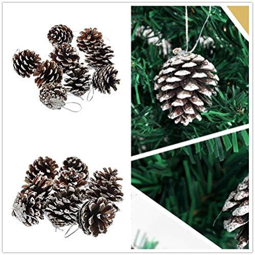 Natürliche Tannenzapfen Kiefer Nuss Weihnachtsbaum Dekoration (Silber) ()