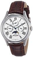 Rotary GS02838/01 - Reloj analógico de cuarzo para hombre, correa de cuero color marrón de Rotary
