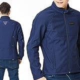 Motorradjacke Motorrad Protektorenjacke -Vigor- Sommerjacke Herren Jeans-Look Kurze Textil Männer Roller Motorrad Jacke - Blau - XL