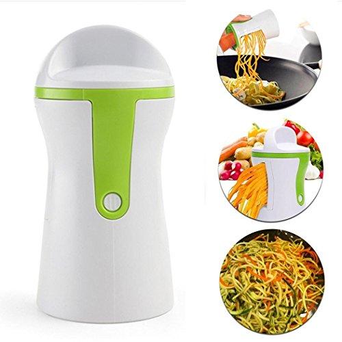 Tomasa- Spiralschneider Set für Obst Gemüse Karotten Schneidemaschine,Gemüsespaghetti Kartoffel,Spargelschäler, Gurkenschneider, Gemüse Spiralschneider Gemüsehobel
