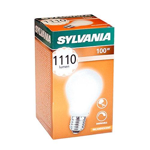 10 x Sylvania Glühbirne 100W E27 MATT Stoßfest 100 Watt Glühlampe Glühbirnen Glühlampen (Glühbirne Sylvania)