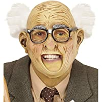 NET TOYS Maschera da Nonno con Testa per metà pelata e per metà con Capelli   256744305cae