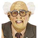 NET TOYS Opa-Maske Halbglatze mit Haaren | Runzelige Haut | Extravagantes Männer-Kostüm-Zubehör Alter Mann | Wie geschaffen für Mottoparty & Fasching