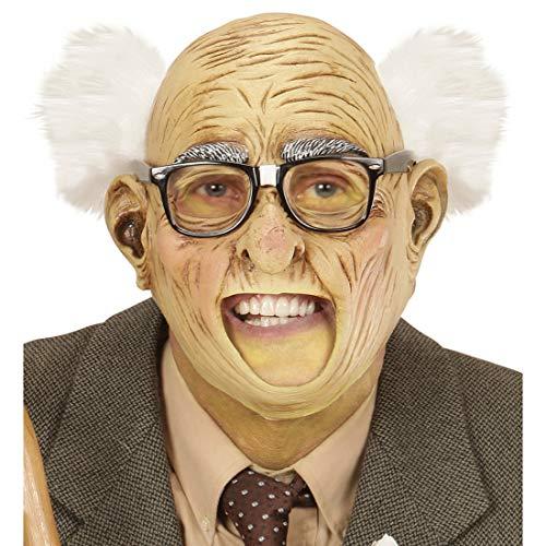 NET TOYS Opa-Maske Halbglatze mit Haaren | Runzelige Haut | Extravagantes Männer-Kostüm-Zubehör Alter Mann | Wie geschaffen für Mottoparty & ()