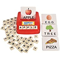 Mumfactory Matching Letter Game, Alphabet Reading & Spelling, Words & Objects, Number & Color Recognition, Educational Learning Toy for Preschooler, Kindergarten 3+ Years Toddler Old Kids Boys Girls