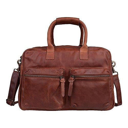Cowboysbag The Bag 1030 Reisetasche Weekender, Ledertasche Businesstasche, cognac, 46x36x14 cm (BxHxT)