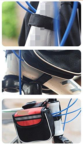 OGTOPMountain Fahrrad Telefonbeutel Satteltasche Frontbalken Verpackungsfahrradzubehör Red