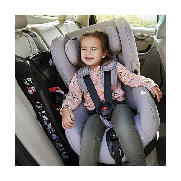 Maxi-Cosi Axiss Swiveling Toddler Car Seat, Extra Secure Fit, Reclining, 9 Months-4 Years, 9-18 kg, Triangle Black Maxi-Cosi Toddler car seat, suitable from 9 months to 4 years (9-18 kg) Swivels 90 degrees allows for front-on access to get your toddler in and out of the car more easily Maxi-Cosi Axiss car seat has eight comfortable recline positions 8