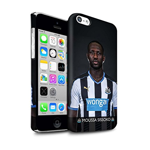 Offiziell Newcastle United FC Hülle / Matte Snap-On Case für Apple iPhone 5C / Pack 25pcs Muster / NUFC Fussballspieler 15/16 Kollektion Sissoko