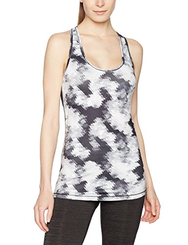 Puma Damen Essential Layer Graphic Tank Top, Black-White Explosv Pt, L