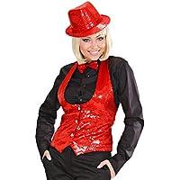 NET TOYS Costumi di Carnevale - Accessori in stile discoteca - Capello di  colore rosso con f87c62bc9e4b