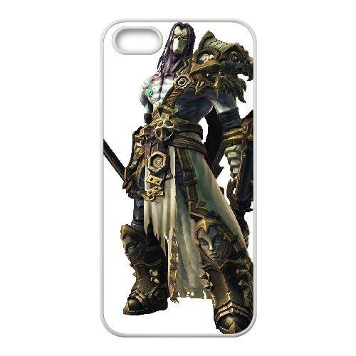 Darksiders coque iPhone 5 5S Housse Blanc téléphone portable couverture de cas coque EBDXJKNBO14938