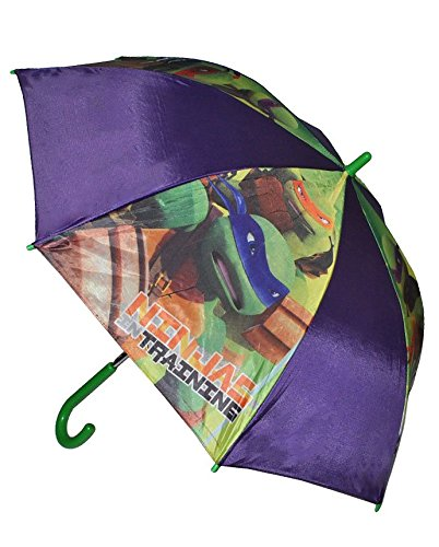 Unbekannt Regenschirm - Teenage Mutant Ninja Turtles - Automatik - Kinderschirm Ø 83 cm - für Kinder Stockschirm Schirm - Jungen Turtle Kinderregenschirm Hero Leonardo / Schildkröte - Jungen Aktion