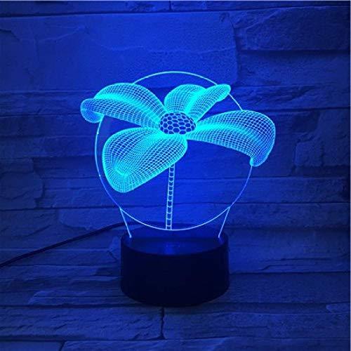 Luce Notturna 3D Trifoglio Fortunato Tintometro Colorato Intelligente Tocco Regali Creativi Da Inviare Alle Ragazze E Alle Ragazze Luci Regalo Telecomando