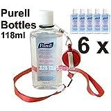 6 bottles Purell Hand Sanitizer Alcohol Rub Gel 118ml Anti Bacterial Sanitiser