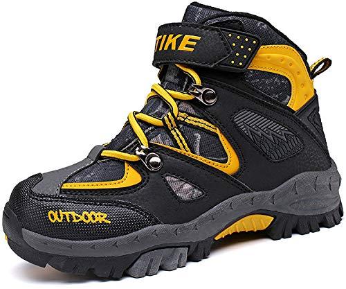 Scarpe da escursionismo stivali da neve scarpe da trekking unisex - bambini(2 giallo,32 eu)