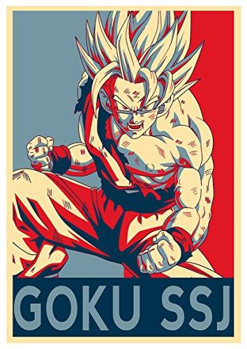 Poster Dragon Ball'Propaganda' Goku SSJ - Formato A3 (42x30 cm)