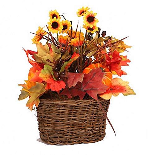 Szseven artificiale decorazione fiori finti foglia d' acero girasole tavolo pendolo bouquet festival home decor art floreale cerimonia per decorazioni, artigianato, regalo, matrimonio