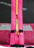 SixBros. SixJump 1,85 M Gartentrampolin Pink Trampolin – Sicherheitsnetz – Lange Netzstangen – CST185/L1568 - 2