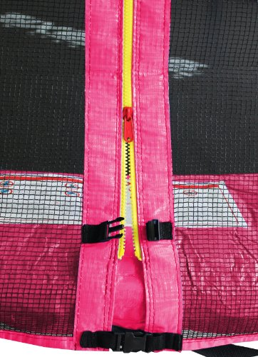 SixBros. SixJump 8FT 2,45 M Garden Trampoline Pink Intertek / GS tested for safety - Safety net - Ladder - Protection cover - CST245/L1610