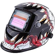 Casco de Soldadura Máscara de Oscurecimiento Automático Casco de Energía Solar Ajustable ...