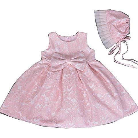 H/B Bambina 2pcs Rosa Pizzo Pageant vestiti da festa di