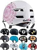 SkullCap BMX Helm - Skaterhelm - Fahrradhelm - Herren Damen Jungs & Kinderhelm, weiß, Gr. M (55,58 cm), Mandala